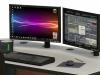 Thru Hole Worksurface Mounted LCD Monitors