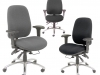 multi-shift task chairs for control room consoles