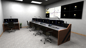 Command Center Console Furniture Rendering