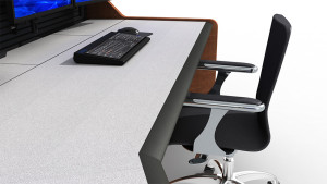 Summit Enterprise Control Room Furniture Cable Management Closeup