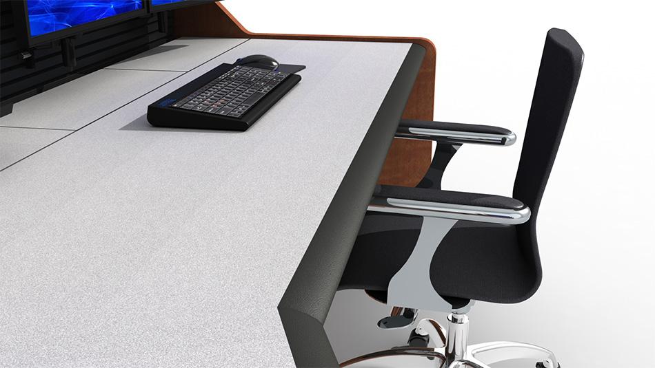 Summit Enterprise Control Room Furniture Cable Management Closeup