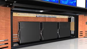 Summit Enterprise Control Room Furniture Under Worksurface Storage Closeup