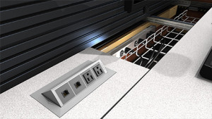 Summit Enterprise Control Room Furniture Power Data Management Closeup