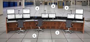 Summit Enterprise Control Room Furniture Rendering Image