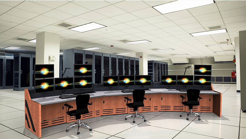 Summit Enterprise Control Room Furniture Rendering