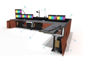 Summit Enterprise Control Room Furniture Rendering