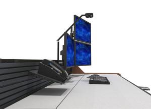 Summit Enterprise Control Room Furniture Slatwall Closeup