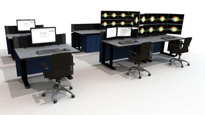 Deluxe NOC Control Room Furniture Rendering
