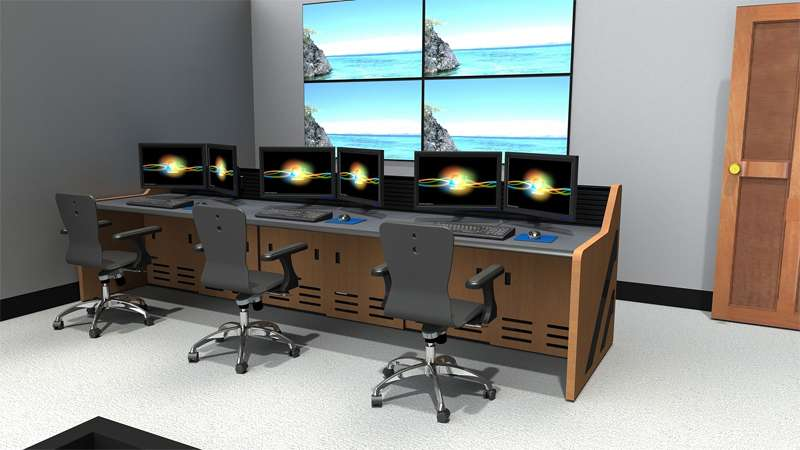 Enterprise NOC Control Room Furniture Rendering