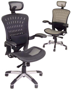 ErgoFlex Ergonomic Mesh Task Chair w/ Headrest - 2up