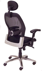 Advanced Ergonomic Mesh Back Ultra Task Chair w/ Headrest - Back