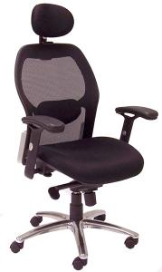 Advanced Ergonomic Mesh Back Ultra Task Chair w/ Headrest - Front