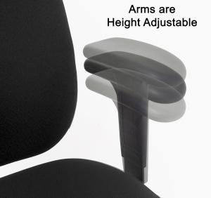 24-Hour Multi-Shift Intensive Use Ergonomic Task Chair - Adjustable Arm Height