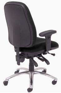 24-Hour Multi-Shift Intensive Use Ergonomic Task Chair - Back, Black