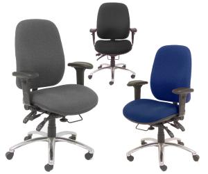24-Hour Multi-Shift Intensive Use Ergonomic Task Chair - Group