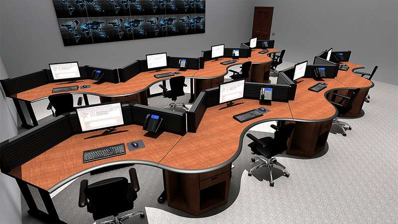 Deluxe Control Room NOC Furniture 2015-34