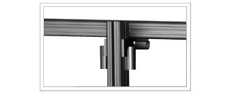 Heavy Duty Aluminum Extrusion for Monitor Wall Interior