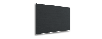 Black Anodized Finish for Monitor Wall Frame