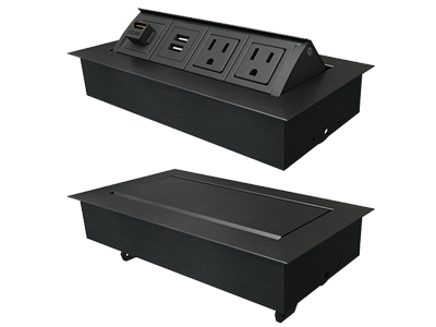 Command Console Furniture Premium Integrated Power Data Grommets