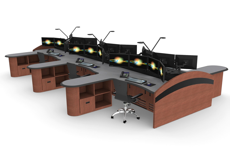 Command Center Furniture Design noc furniture & control room furnitureinracks consoles