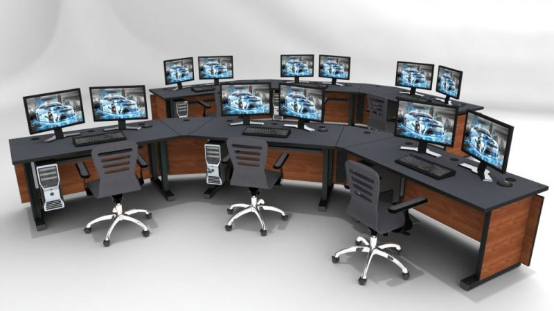 Console Furniture For Control Rooms Noc Command Centers
