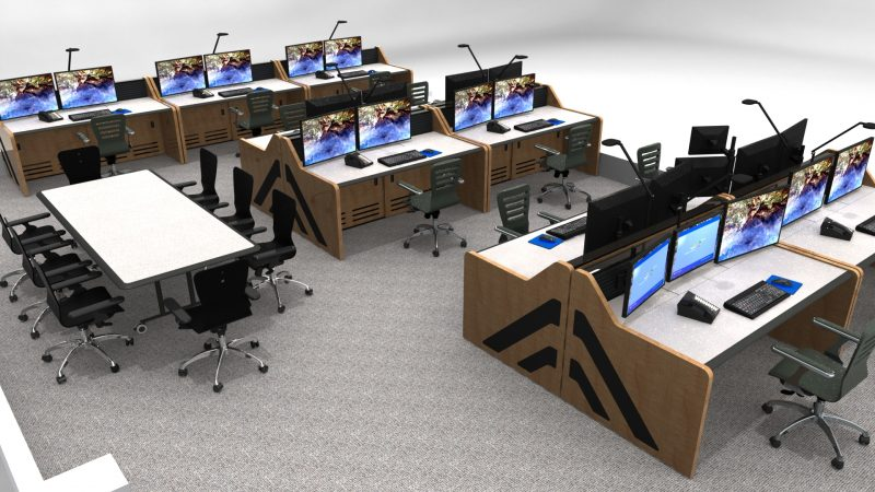 Control Room Furniture NOC Console By Inracks
