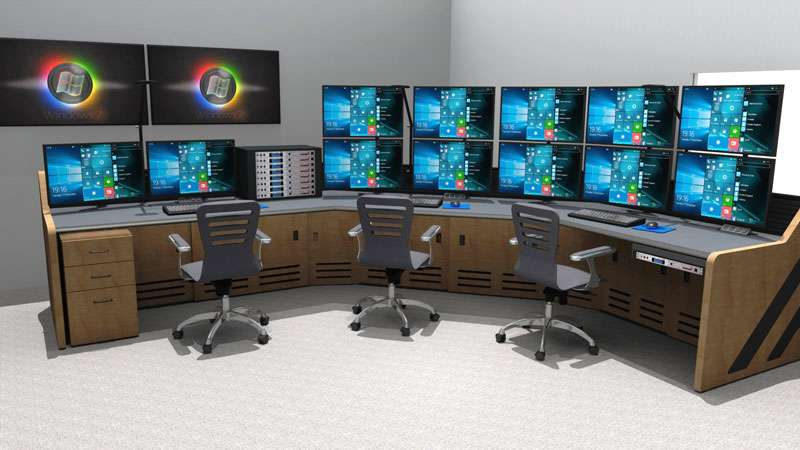 Enterprise Control Room NOC Furniture 2017 38