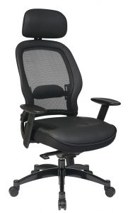 Professional-Black Breathable-Mesh-Back Chair-1