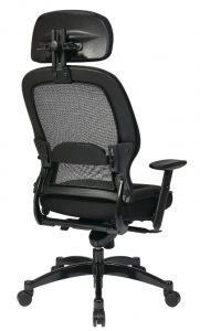 Professional-Black Breathable-Mesh-Back Chair-2