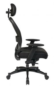 Professional-Black Breathable-Mesh-Back Chair-3