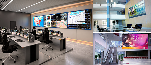 audio video walls for control rooms