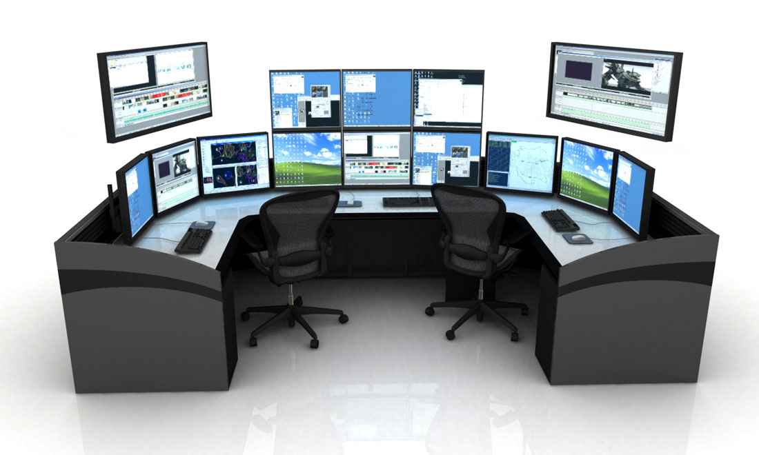 Power Plant NOC with console furniture