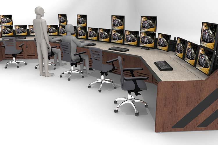 Control room multi-operator console setup