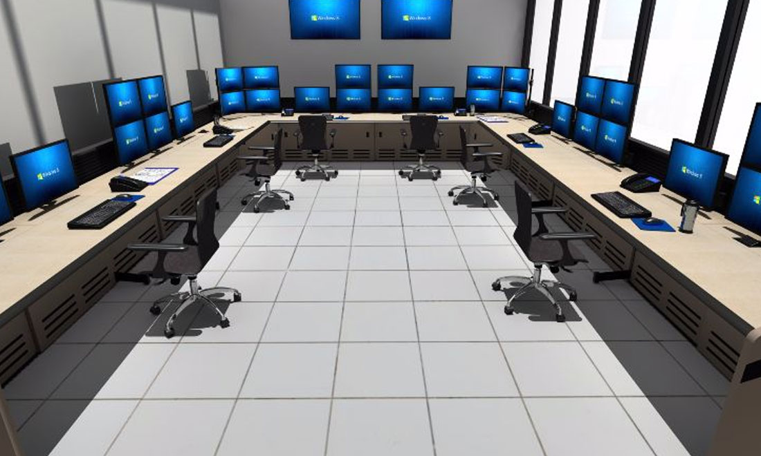 Command center consoles in Process Facility