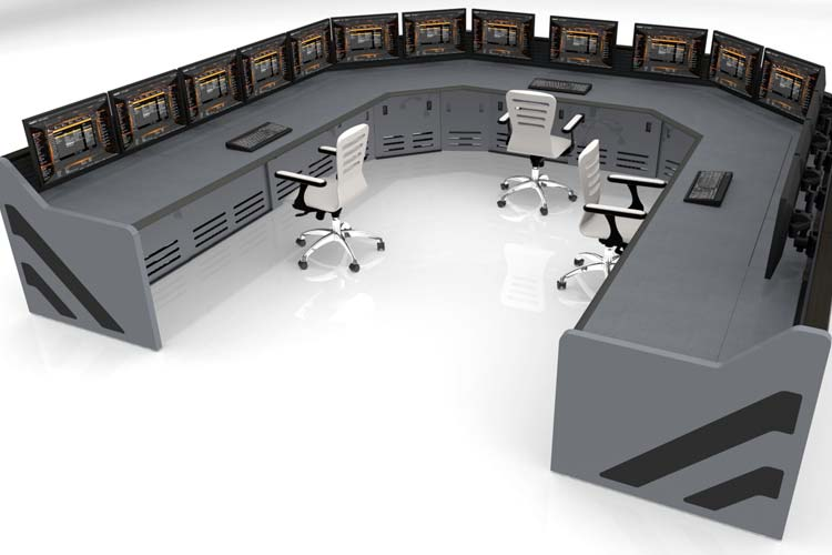 Summit line of console furniture in data center