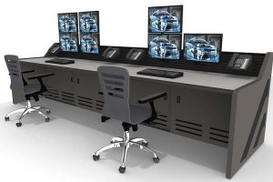 console furniture rendering in data room