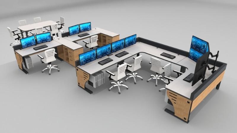 2018 Summit Edge Deluxe Control Room Console Furniture 31