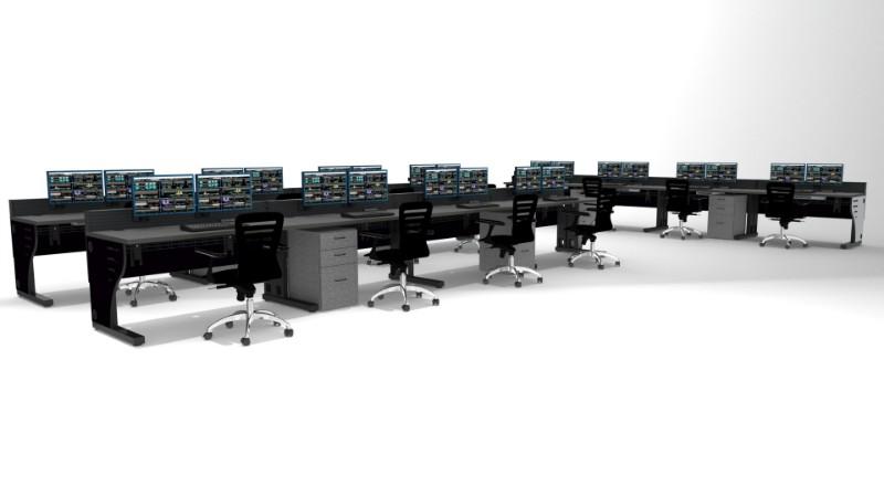 2018 Summit Edge Deluxe Control Room Console Furniture 41