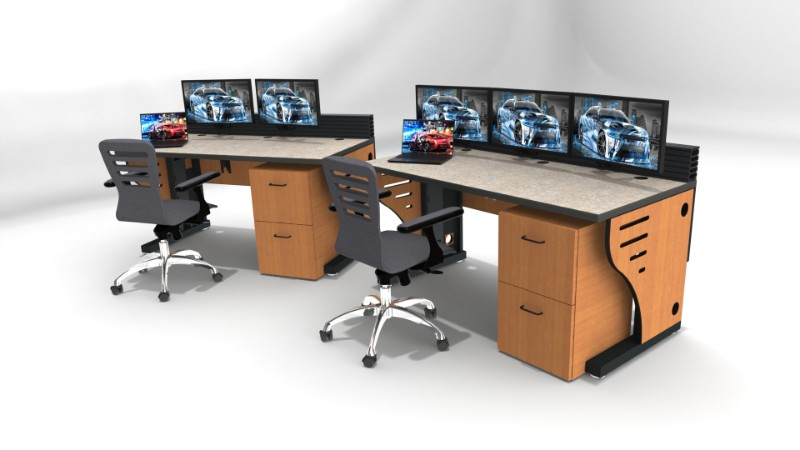2018 Summit Edge Deluxe Control Room Console Furniture 43