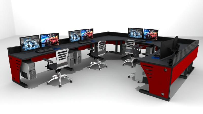 2018 Summit Edge Deluxe Control Room Console Furniture 9