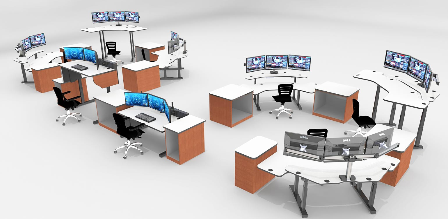 Sit stand control room furniture and design
