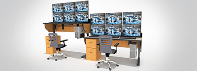 Summit Edge Sit/Stand Dispatch Console rendering