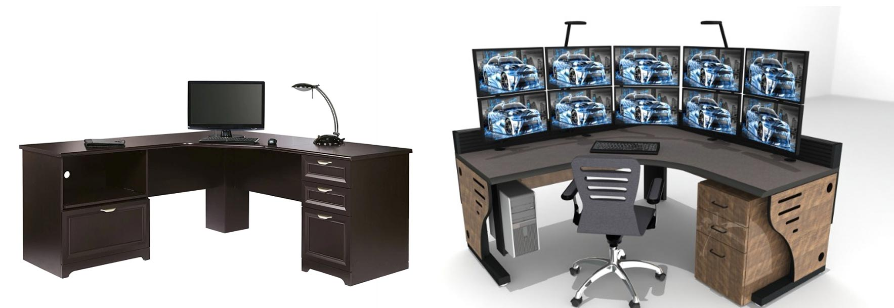 Control room desk vs specialized furniture comparison