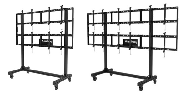 modular expandable portable monitor wall frames - wide and narrow options