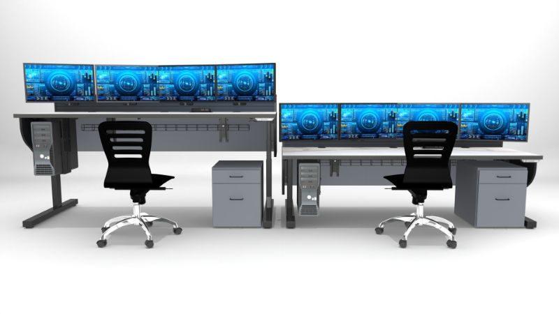 Ergonomic Control Room Desk