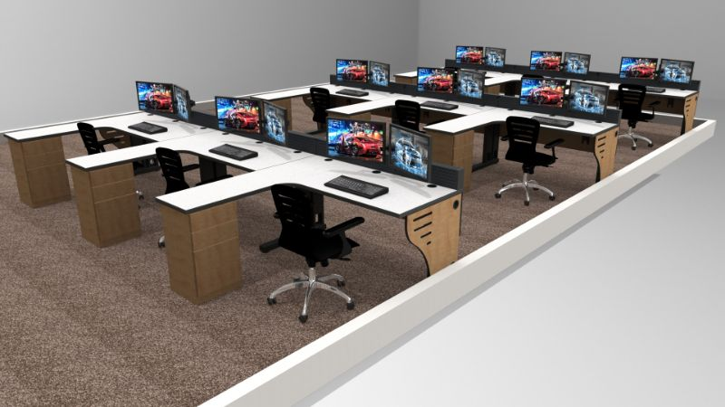 Ergonomic Control Room Furniture
