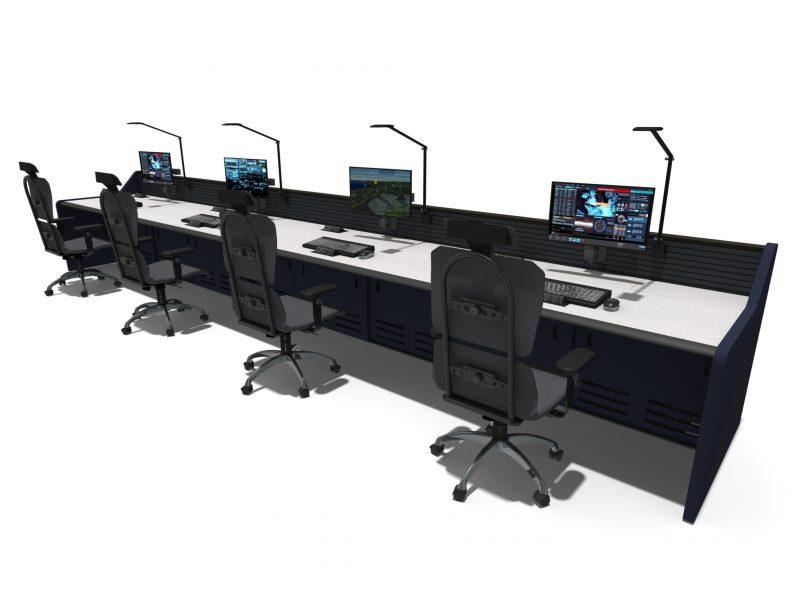 Black Control Room Furniture
