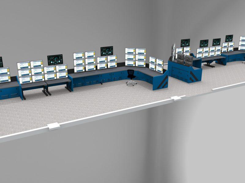 Large Control Room Rendering Enterprise Inracks