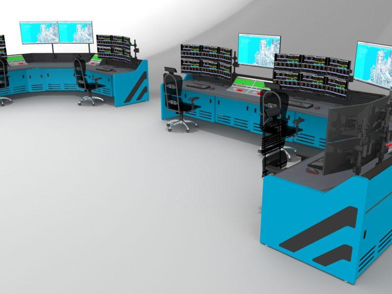 Light Blue Control Room Furniture Enterprise