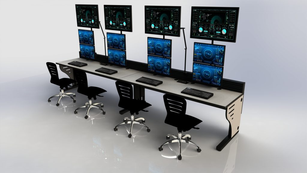 2020 Summit Edge Console Dual Monitor Row
